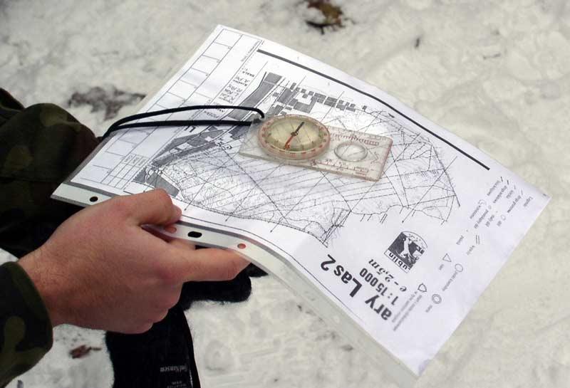 Carolina OK - orienteering map and compass